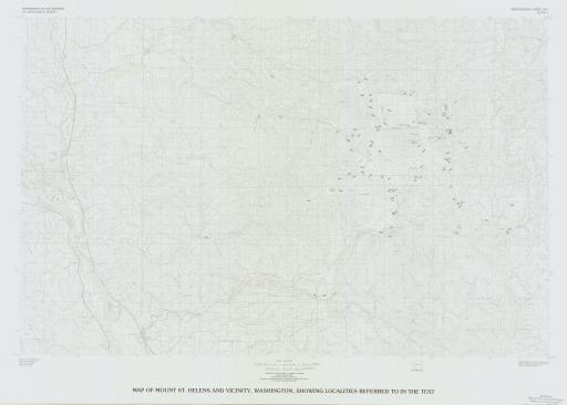 Map of Map of Mt St Helens & Vicinity, Localities in text