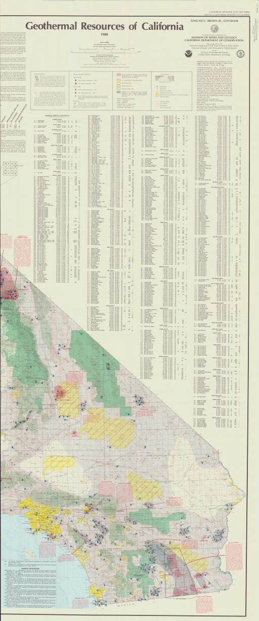 Map of Geothermal Resources of CA