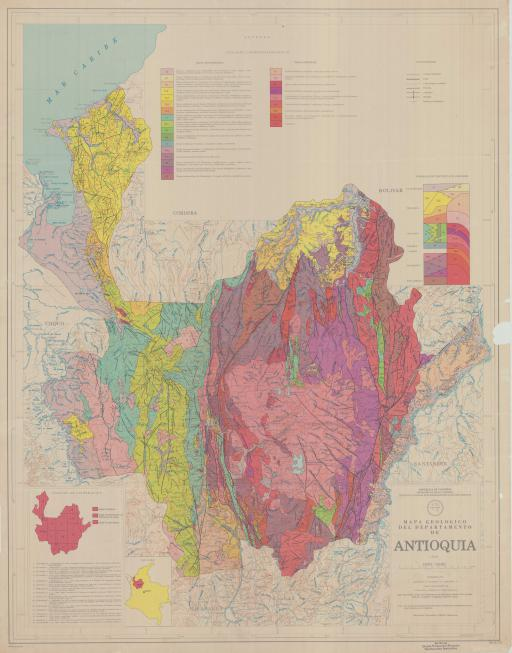 Map of Antioquia Province, Geol Map of
