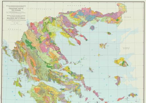 Map of Greece, Geol Map of, N
