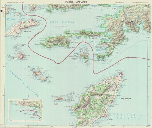 Map of RODOS-MARMARIS  (in Greek)