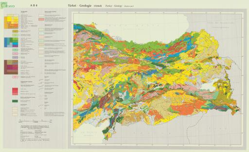 Map of Geologic Map of Turkey (Eastern Sheet)