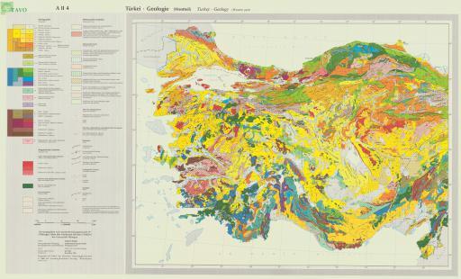 Map of Geologic Map of Turkey (Western Sheet)
