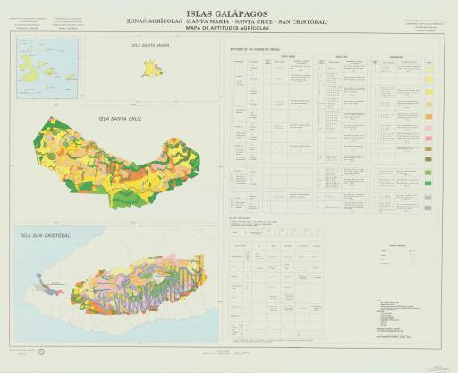 Map of Aptitudes Agric, Santa Maria/Santa Cruz/Cristobal