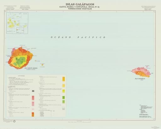 Map of Santa Maria & Espanola, Vegetation Formations