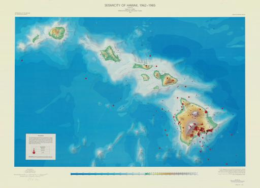 Map of Seismicity of Hawaii