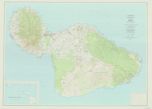 Map of Maui, Topo Map of