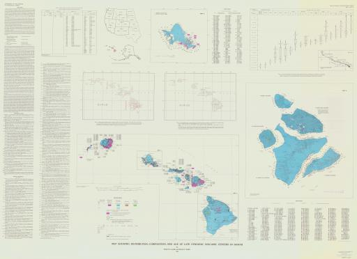 Map of Map Showing Distribution, Composition, and Age of Late Cenozoic Volcanic Craters in Hawaii