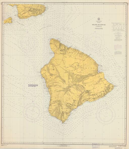 Map of Island of Hawaii