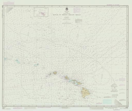 Map of Hawaii to French Frigate Shoals