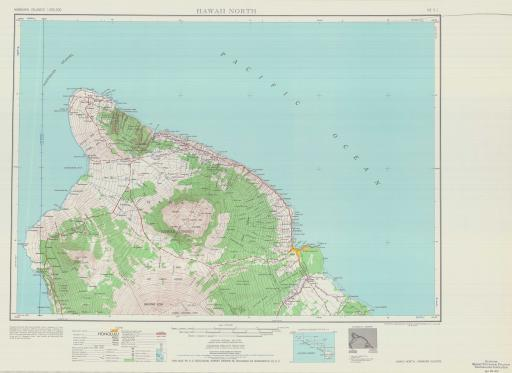 Map of Hawaii North