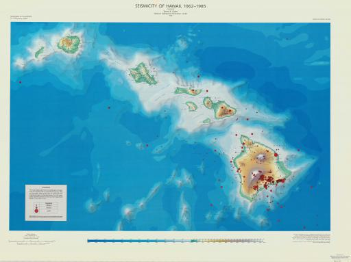 Map of Seismicity of Hawaii, 1962-1985