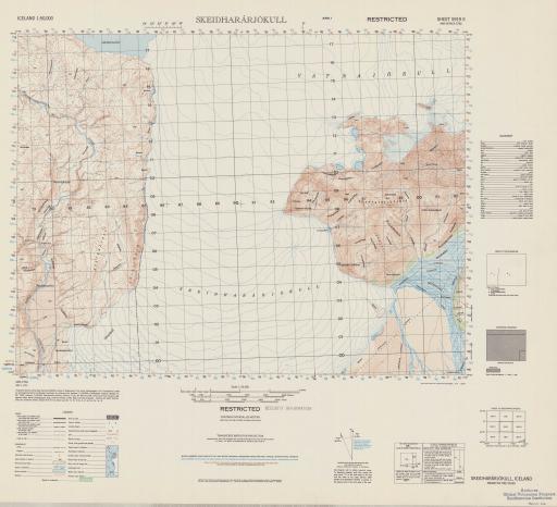 Map of Skeidhararjokull