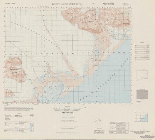 Map of Breidhamerkurjokull (Austur-Skaftafellssysla)