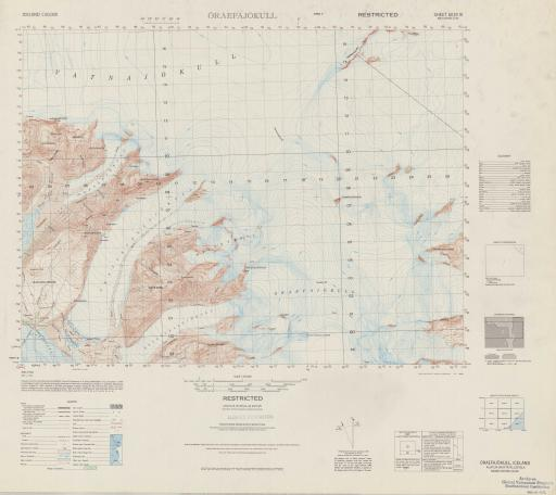 Map of Oraefajokull (Austur-Skaftafellssysla)