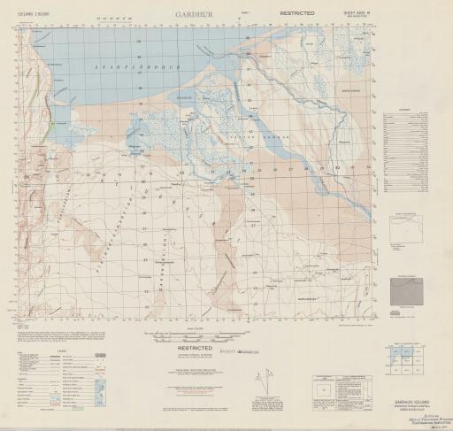Map of Gardur (Nordhur-Thingeyjarsysla)