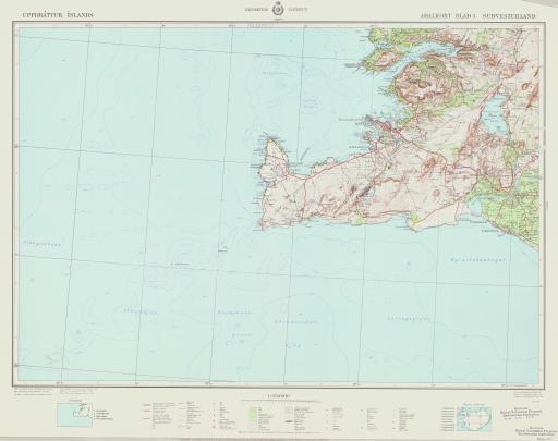 Map of Sudvesturland