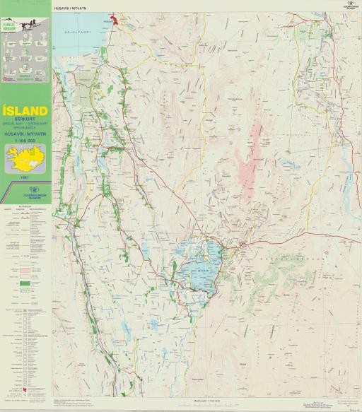 Map of Island Special Map--Husavik/ Myvatn