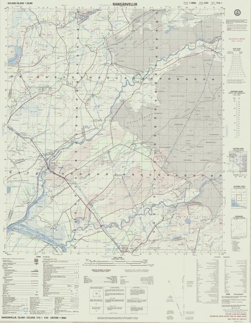 Map of Rangarvellir