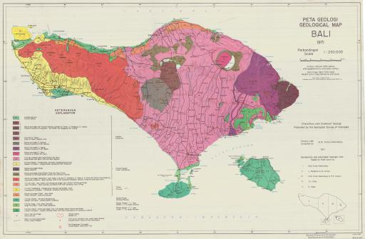 Map of Geological Map Bali