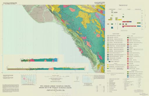 Map of Geologic Map the Tapaktuan Quadrangle, Sumatra