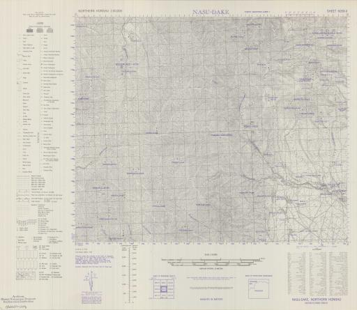 Map of Nasu-Dake
