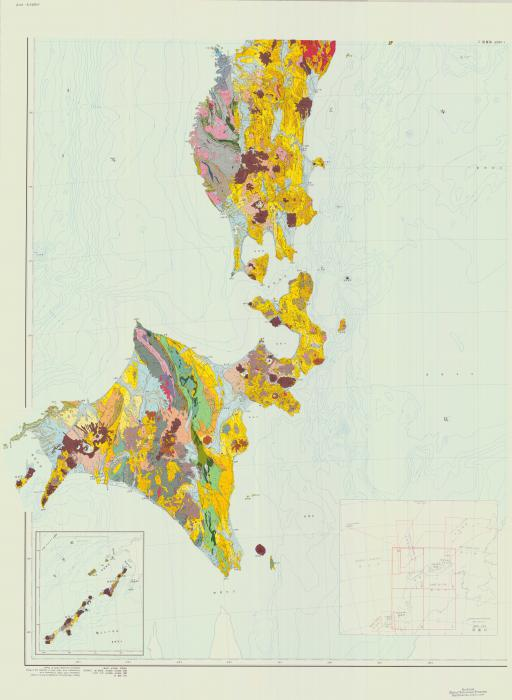 Map of Geological Map of Japan