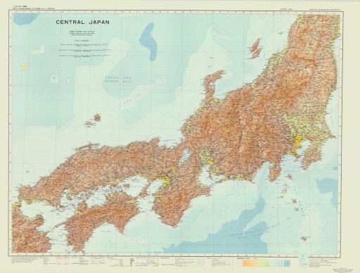 Map of Central Japan