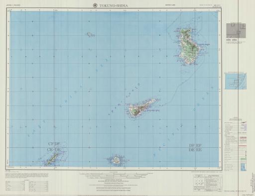Map of Tokuno-Shima