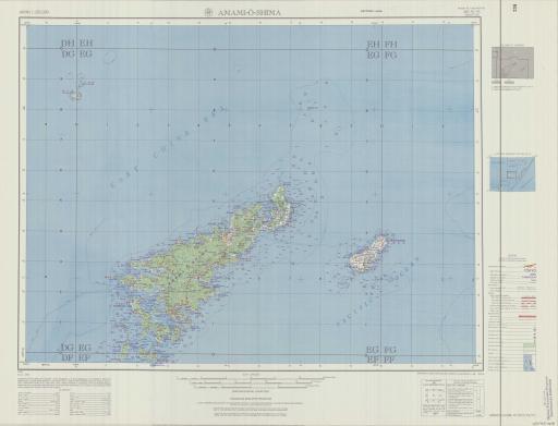 Map of Amami-O-Shima