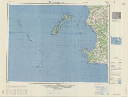 Map of Koshiki-Retto