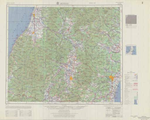 Map of Sendai
