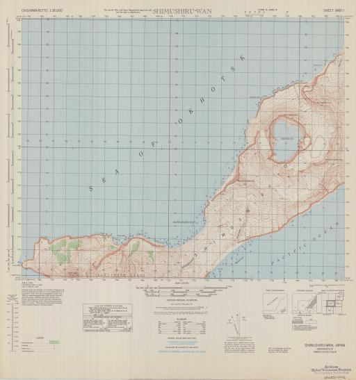 Map of Shimushiru-Wan