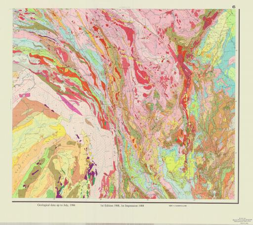 Map of (6) Geol Map of Qinghai-Xizang Plateau & Adj Areas