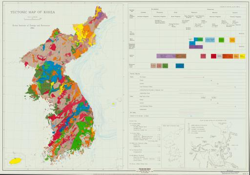Map of Tectonic Map of Korea