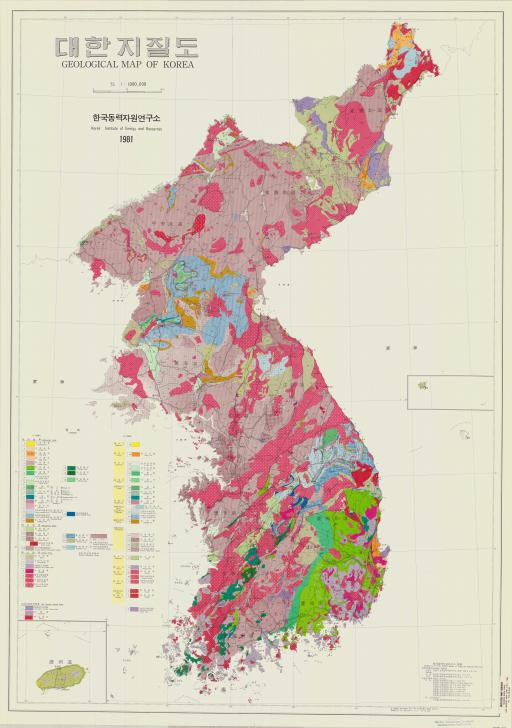 Map of Geol Map of Korea