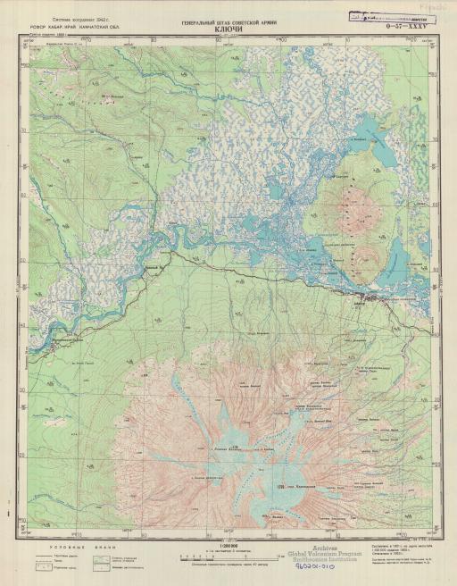 Map of Kliuchi