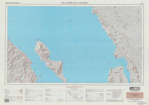 Map of Isla Angel de La Guarda