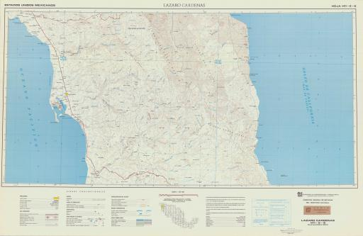 Map of Lazaro Cardenas