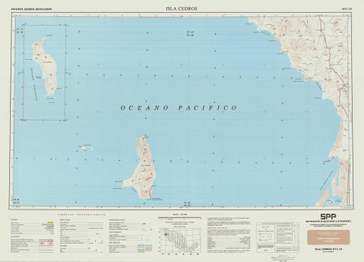 Map of Isla Cedros