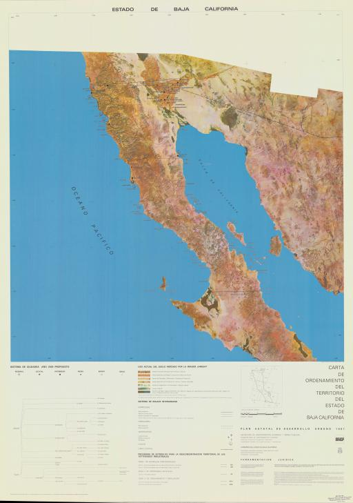 Map of Estado de Baja California