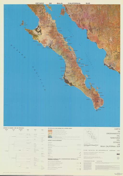 Map of Estado de Baja California Sur