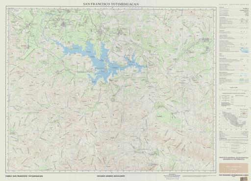 Map of San Francisco Totimehuacan