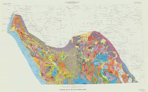 Map of Geologic Map ot the Saudi Arabian Shield