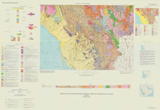 Map of Geologic Map of the Wadi Baysh Quadrangle, Sheet 17F, Kingdom of Saudi Arabia