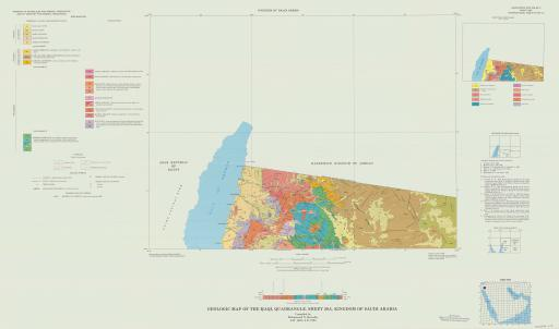 Map of Geologic Map of the Haql Quadrangle, Sheet 29A, Kingdom of Saudi Arabia