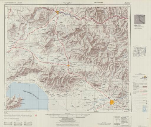 Map of Tabriz
