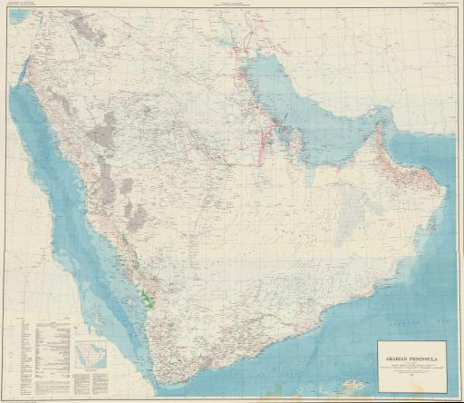 Map of Arabian Peninsula