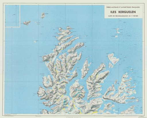 Map of Carte des Iles Kerguelen  Feuille Nord-Ouest