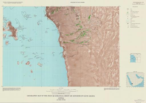 Map of Geogr Map of the Jizan Quad, Sheet 16F, Kingdom of Saudi Arabia